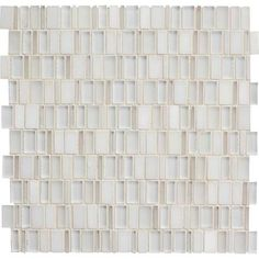 """Bath #4 Wall Detail (Between Liner) - Daltile Clio in Luna CL13 (12"""" Band to include Back of Niche)"""