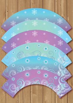 Frozen cupcake wrappers. 6 different designs  Instand download at Etsy Alapipetuadesign, $5.00