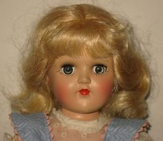 """1950's Ideal 14"""" HP Platinum Blonde Toni Doll in Original Dress  P-90  ML76 in Dolls & Bears, Dolls, By Brand, Company, Character, Ideal, Toni 