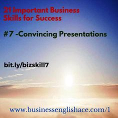 #Business Skill 7 – Convincing #Presentations - Get more English tips direct in your inbox - http://www.businessenglishace.com/1   #английский #anglais #angielski #inglés #inglese #englisch #engelsk #engleza