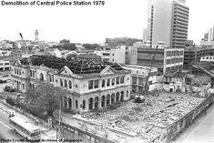 THe demolition of Central Police Station 1978