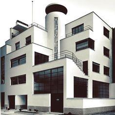 Robert Mallet-Stevens and Le Corbusier's Villa des frères Martel, Paris, 1927 (via Bauhaus Movement)