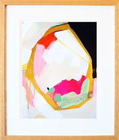 An alluring addition to your gallery wall or master suite, this framed giclee print from Artfully Walls showcases an abstract motif for visual appeal. Contemporary Abstract Art, Framed Prints, Art Prints, Framed Wall, New Wall, Joss And Main, Giclee Print, Wall Art, Art Walls