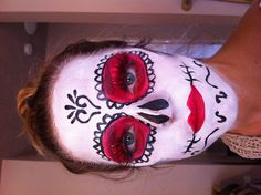 Mexican Skull Halloween Face Paint Makeup by Tobi Henney