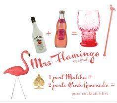 Pink Flamingo cocktail...love this theme!