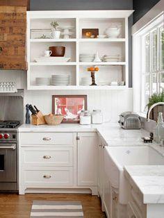 Estanterías abiertas en la cocina                                                                                                                                                                                 Más