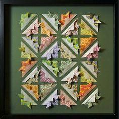 Quadros com origami