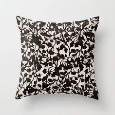 Earth_Black Throw Pillow by Garima Dhawan - $20.00