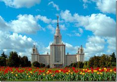 The giant main building of The Moscow University.