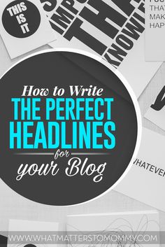 How to write perfect blog titles.