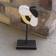 bumble bee decor | Tall Standing BUMBLE BEE Block for bee decor, Girl room decor, shelf ...