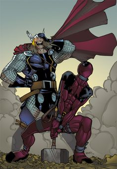 Deadpool is NOT worthy. Besides Thor, only the Cap is..