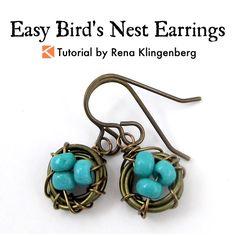 Easy Bird's Nest Wire Earrings Tutorial | Wire Nest Tutorial | Wire Bird Nest Tutorial | Wire Bird Nest DIY