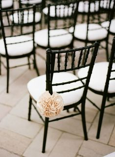 Black and White Wedding ceremony chair.