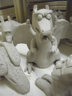 7th Grade Clay Gargoyles