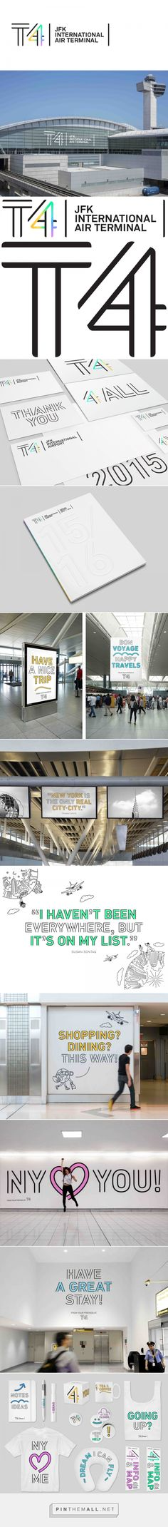 Brand New: New Logo and Identity for JFK Terminal 4 by Base Design... - a…
