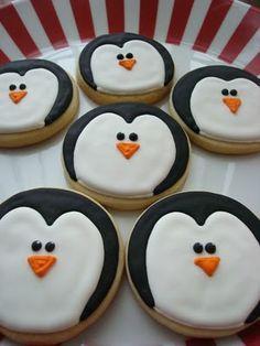 Biscuits pingouin, idéal pour un Noël givré