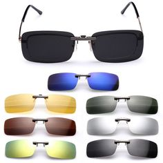 aae9c276ec 1.79AUD - Clip-On Lens Polarized Day Night Vision Driving Glasses  Sunglasses Eyewear Uv400
