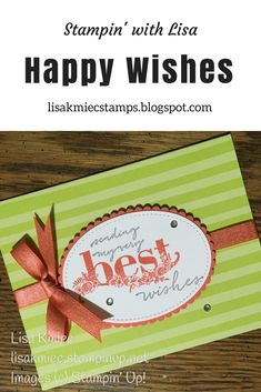 Stampin' with Lisa: Tutti-Frutti Happy Wishes Quick Card Stampin' Up! Happy Wishes stamp set Tutti-Frutti card bases 2018 Sale-A-Bration