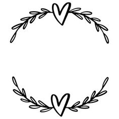 wreath with hearts and laurel leaves