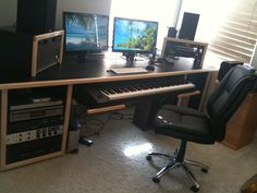 Awesome KK Audio MD-2 desk w/ VR6 racks.