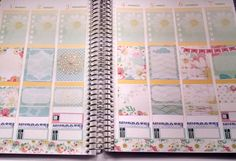 Weekly Spread in the month of August in my vertical Erin Condren Life Planner using the Daisy Mae kit from StickAround Designs.