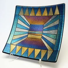 """Mesa""  Art Glass Platter    Created by Sabine Snykers"