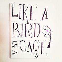 """Avett Brothers """"Like a bird in a cage... """""""