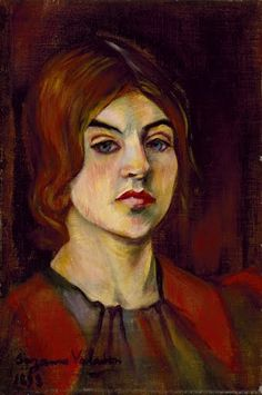 Suzanne Valadon French), Self-Portrait, Oil on canvas, 40 x cm Collection Museum of Fine Arts, Houston. Renoir, Women Artist, Maurice Utrillo, Kunsthistorisches Museum, Google Art Project, Museum Of Fine Arts, French Artists, Art Google, Painting & Drawing