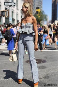 New York Fashion Week весна-лето 2015 - street style