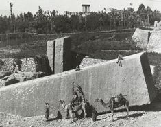 The largest hand-carved stone block from our ancient world actually lies at Baalbek, Lebanon, inside a limestone quarry by the Roman Temple of Jupiter. Ancient Ruins, Ancient Rome, Ancient History, Art History, Stone Blocks, Legends And Myths, Stone Carving, Ancient Civilizations, Cities