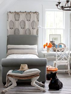 5 Ways to Layer Neutrals | BHG Style Spotters Great bed that could be used as a sofa with pillows against a wall.