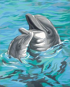 paintings of dolphins   click on image to zoom