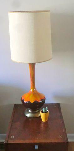 Mid Century Ceramic Drip Lamp. $165.00, via Etsy.