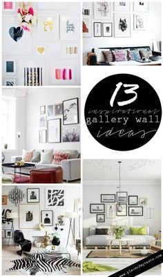 13 inspirational gallery wall ideas: Placeofmytaste.com