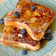Blueberry Bourbon French Toast. I love to make this with Peach Cobbler Bread.