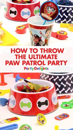 "Get all the inspiration you need to throw a ""paw-some"" Paw Patrol party with our collection of decorating ideas, party food ideas, party game ideas and more. See the whole birthday party at blog.partydelights.co.uk."