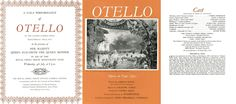 the Gala Performance of Verdi& opera Otello on July 1962 at the Royal Opera House, Covent Garden, London conducted by Georg Solti and starring Mario del Monaco, Raina Kabaivanska and Geraint Evans.
