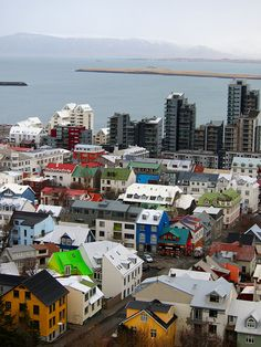 A view toward the harbour, Reykjavik, Iceland, 2012, photograph by Amanda Williams.