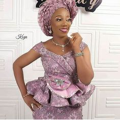 2019 Best Asoebi Styles for Events to Copy African Wear Dresses, Latest African Fashion Dresses, African Print Fashion, African Attire, African Lace Styles, Ankara Styles, Nigerian Lace Styles, African Style, African Beauty