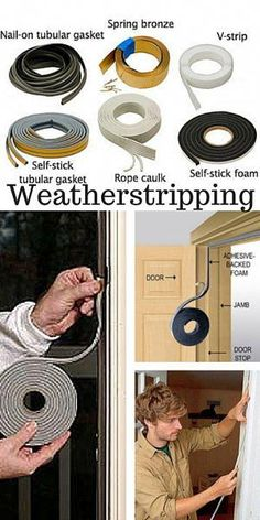 Do you know how to protect against drafts around movable building components such as doors? Weatherstripping is a great … – Home Renovation Home Renovation, Home Remodeling, Bedroom Remodeling, Kitchen Remodeling, Home Improvement Projects, Home Projects, Door Weather Stripping, Budget Planer, Garage Workshop