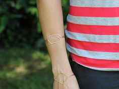 Geometric Bangle Bracelets in Gold Silver Rose by SaressaDesigns, $42.00