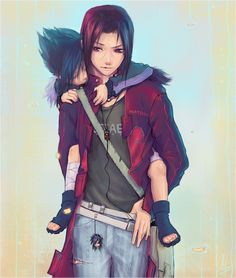 Autumn by DaoTae on DeviantArt......sasuke and his older brother whose name I cant spell.......IM SORRY WORLD!