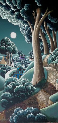 Moonlit Path Co Down ~ George Callaghan