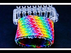 Alpha Loom - Seven 7 row Fishtail Rainbow Loom Bracelet - YouTube