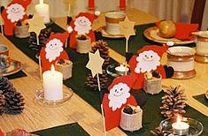 Nikolaus Dekoration: Ein richtiger gute Laune-Tisch für den Nikolaus-Kaffee. Die Nikoläuse, die aus Tonkarton selbst gebastelt sind, strahlen über das ganze Gesicht und sorgen Catholic Crafts, Xmas Crafts, Gingerbread Cookies, Nativity, Advent Calendar, Holiday Decor, Paper, Christmas, Holland