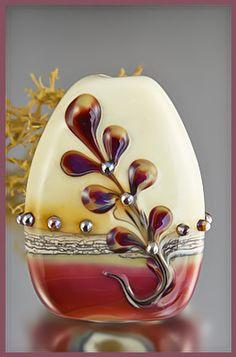 Lampwork Bead Coral Berry - Shari Slonski