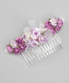 Another great find on #zulily! Lilac Floral Comb #zulilyfinds