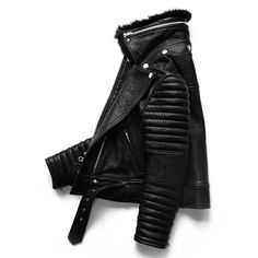 Inspired by Seattle's Rainier Tower. Italian lamb hide leather moto jacket with removable Toscana fur collar.