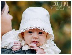 Baby Girl Silk Bonnet | Etsy Baby Boy Baptism Outfit, Christening Outfit, Baby Christening, Silk Bonnet, Silk Romper, Little Girls, Etsy, Toddler Girls, Baptism Outfit